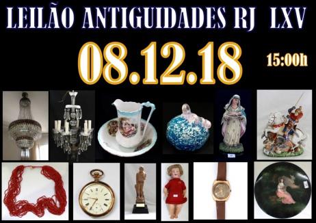 LEILÃO ANTIGUIDADES RJ  LXV