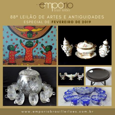 88º Leilão de Artes e Antiguidades - Especial de Fevereiro de 2019!