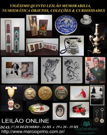 Vigésimo-Quinto Leilão Memorabilia, Numismática, Objetos, Coleções e Curiosidades