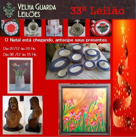 33º LEILÃO VELHA GUARDA LEILÕES - Arte, Antiguidades, Decorações e Colecionismo
