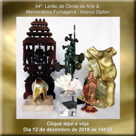 94º Leilão de Obras de Arte & Memorabilia Fumageira - 12 de Dezembro às 14h30