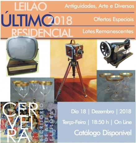 ÚLTIMO LEILÃO RESIDENCIAL 2018 - CERVEIRA ESCRITÓRIO DE ARTE - TODOS OS LOTES REMANESCENTES DO ANO.
