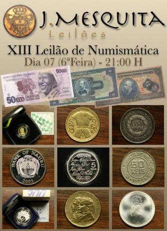 XIII Leilão de Numismática