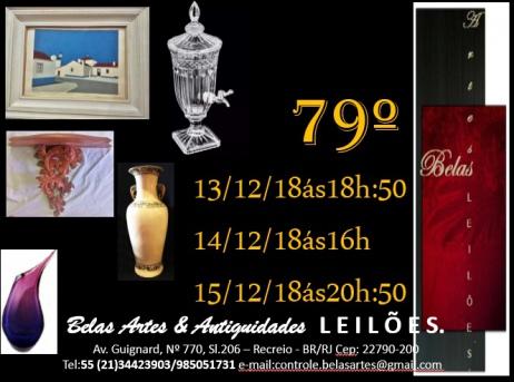 79º Leilão Belas Artes - Queima para Natal.