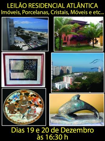 Leilão Residencial Atlântica - Imóveis, Porcelanas, Cristais, Móveis, Esculturas e etc.