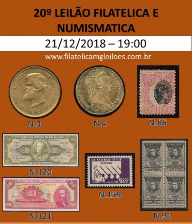 20º Leilão de Filatelia e Numismática Filatélica MG Leilões