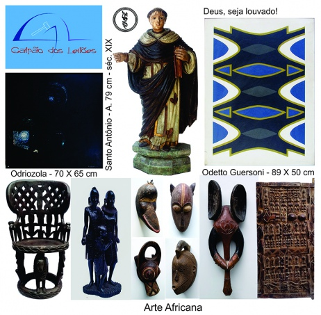 LEILÃO DE ARTE (destaque p/ tribal africana), CURIOSIDADES, DECORAÇÃO E LIVROS - 19 e 21/1/2019.