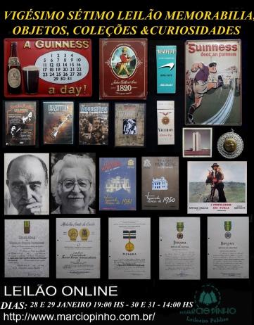 Vigésimo-Sétimo Leilão Memorabilia, Objetos, Coleções e Curiosidades