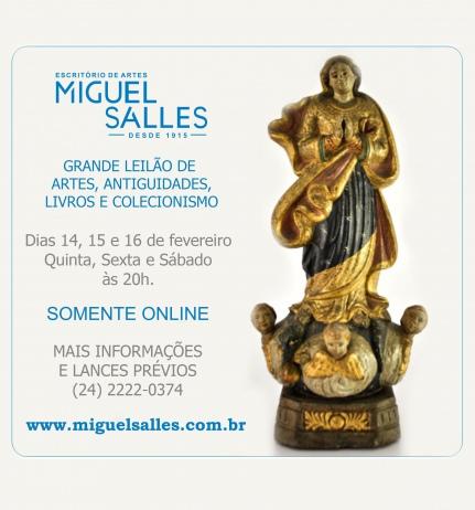 LEILÃO DE ARTES, ANTIGUIDADES & COLECIONISMO - ESCRITÓRIO DE ARTES MIGUEL SALLES