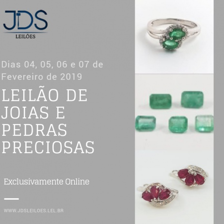 LEILÃO EXCLUSIVO DE JOIAS E PEDRAS PRECIOSAS