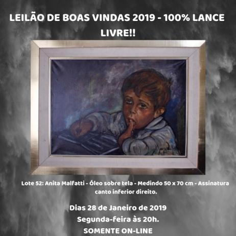 LEILÃO DE BOAS VINDAS 2019 - 100% LANCE LIVRE!!