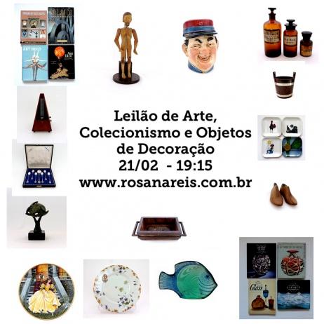 LEILÃO DE ARTE, COLECIONISMO E OBJETOS DE DECORAÇÃO