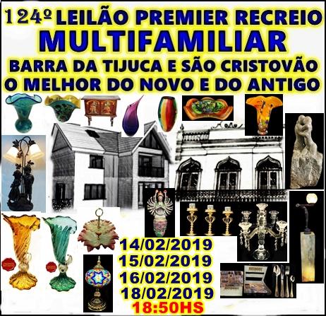 124º - LEILÃO PREMIER RECREIO-MULTIFAMILIAR BARRA E SÃO CRISTÓVÃO -O MELHOR DO NOVO E DO ANTIGO.