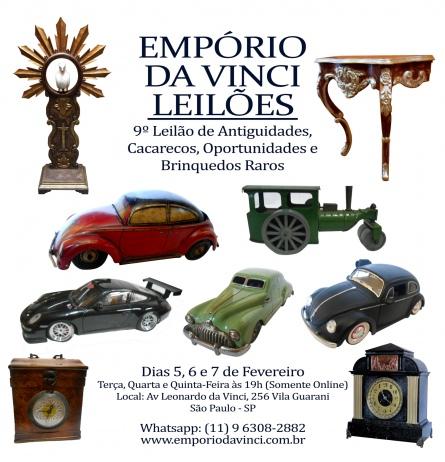 9º Leilão do Empório da Vinci de Antiguidades - Cacarecos - Oportunidades e Brinquedos Raros.