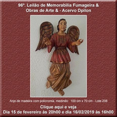 96º Leilão de Obras de Arte & Memorabilia Fumageira - 15  e 16 de Fevereiro de 2019.