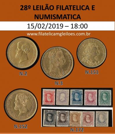 26º Leilão de Filatelia e Numismática Filatélica MG Leilões