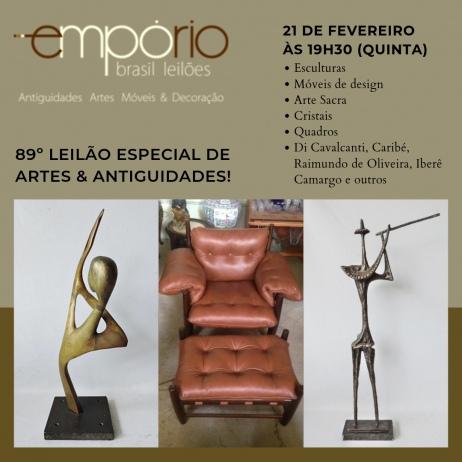 EMPÓRIO BRASIL - LEILÃO 10901 - 89º Leilão Especial de Artes & Antiguidades!!!
