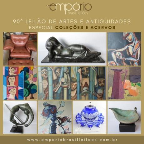 90º Leilão de Artes & Antiguidades - Especial Coleções e Acervos Particulares!!!