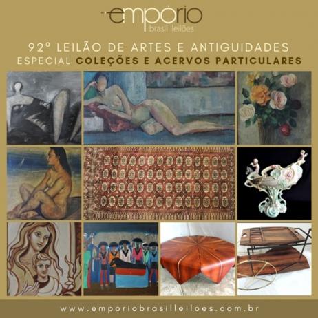 92º Leilão de Artes & Antiguidades - Especial de Coleções e Acervos Particulares!!