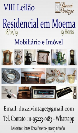 VIII Leilão DuzziVintage -Residencial em Moema - Porcelanas- Cristais- antiguidades-colecionismo