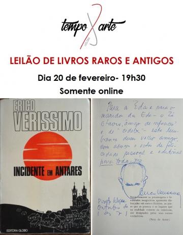 LEILÃO DE LIVROS RAROS E ANTIGOS