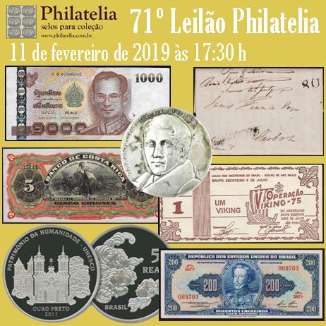 71º Leilão de Filatelia e Numismática - Philatelia Selos e Moedas