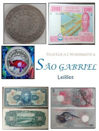 23º  LEILÃO SÃO GABRIEL DE SELOS, MOEDAS E CEDULAS: UM PRAZER EM COLECIONAR!!!