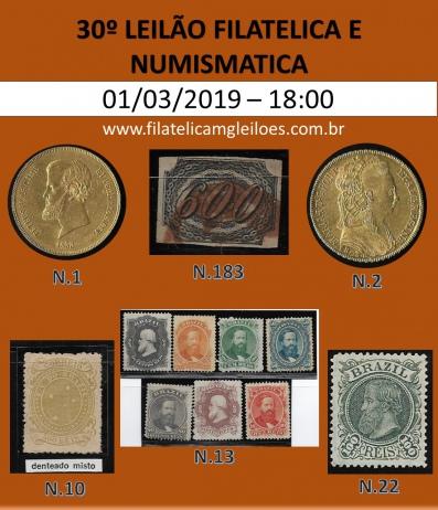 28º Leilão de Filatelia e Numismática Filatélica MG Leilões