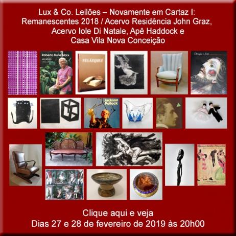 Lux & Co. Leilões Novamente em Cartaz!  John Graz / Iole di Natale e outros - 27 e 28/02/2019