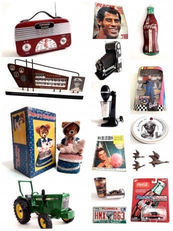 LEILÃO DE COLECIONISMO (Coca-Cola, Brinquedos, Futebol, Placa de Carro, Máquina Fotográfica, Outros)