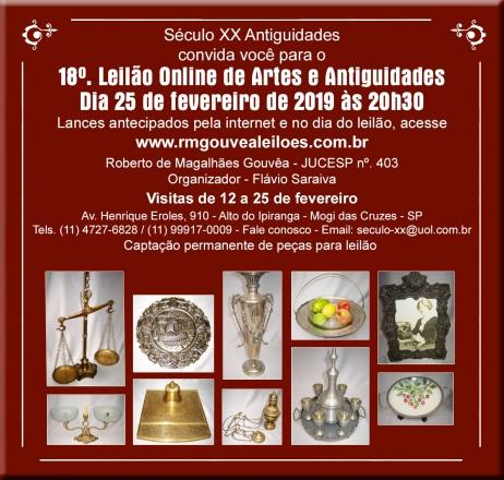 18º Leilão de Arte e Antiguidades - SÉCULO XX - 25/02/2019
