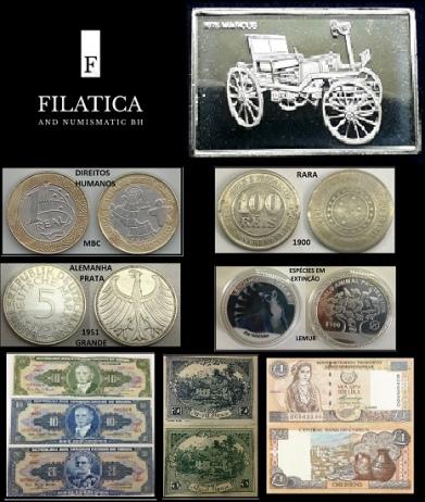 1º LEILÃO FILATICA AND NUMISMATIC