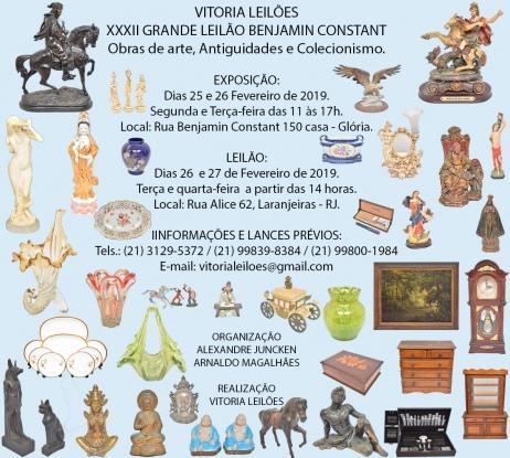 XXXII GRANDE LEILÃO BENJAMIN CONSTANT