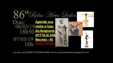 85º Leilão Belas Artes e Antiguidade.