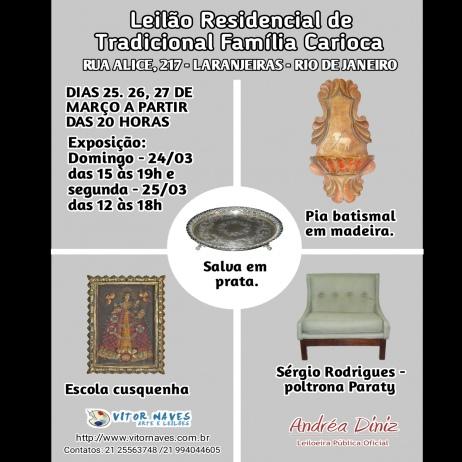 LEILÃO RESIDENCIAL DE TRADICIONAL FAMÍLIA CARIOCA