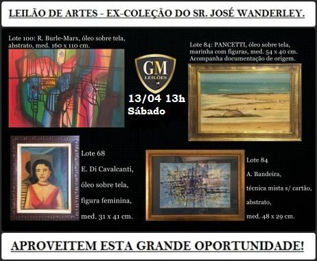 A ARTE DO LEILÃO - EX COLEÇÃO JOSE WANDERLEY