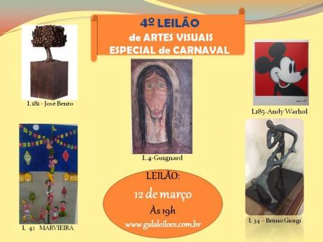 4º LEILÃO DE ARTES VISUAIS-ESPECIAL DE CARNAVAL