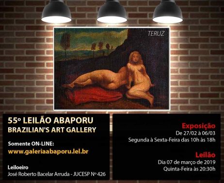 55º LEILÃO DA ABAPORU BRAZILIANS ART GALLERY
