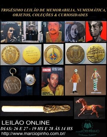 Trigésimo Leilão Memorabilia, Numismática, Objetos, Coleções e Curiosidades