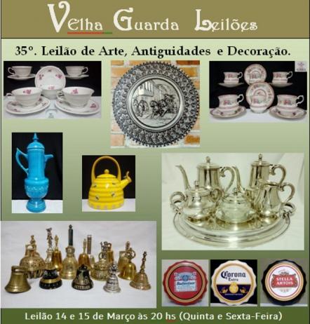 35º LEILÃO VELHA GUARDA LEILÕES - Arte, Antiguidades, Decoração e Colecionismo