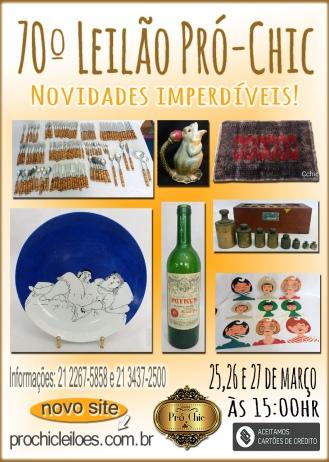 70º  LEILÃO   PRO CHIC-Novidades Imperdiveis!!