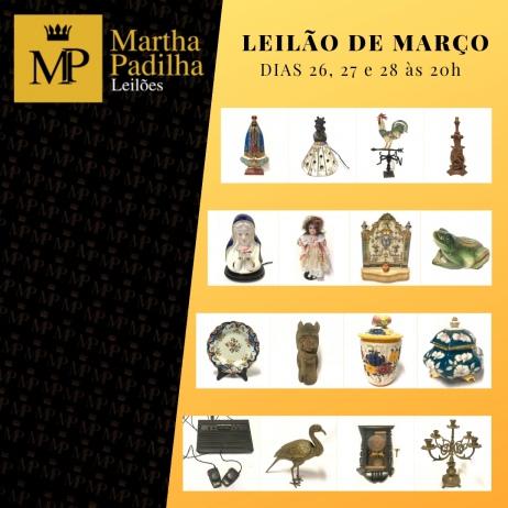 MARTHA PADILHA LEILÕES - MARÇO DE 2019.