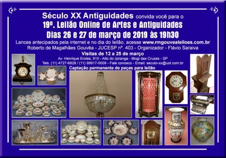 19º Leilão de Arte e Antiguidades - SÉCULO XX - 26 e 27/03/2019 -  19h30