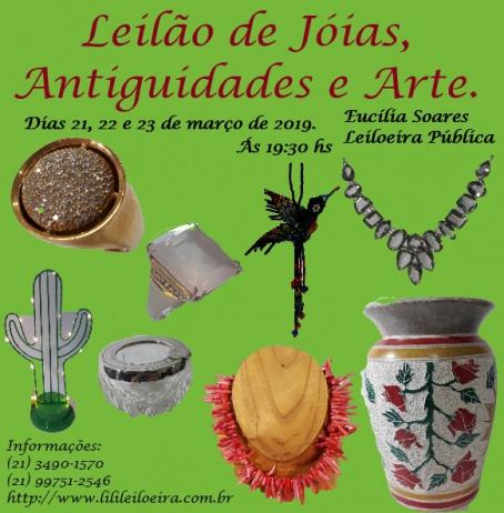 LEILÃO DE JÓIAS, ANTIGUIDADES E ARTE  N. 11203
