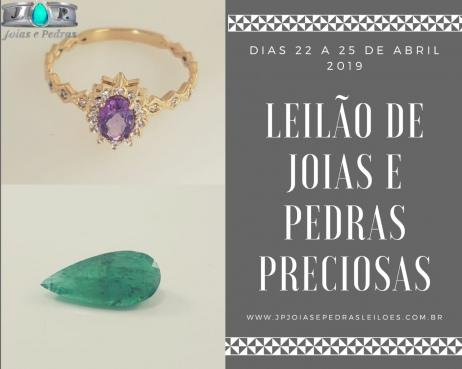 5º Leilão Frete Grátis - JOIAS E PEDRAS PRECIOSAS - EXCLUSIVIDADE