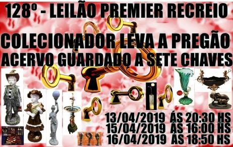 128º - LEILÃO PREMIER RECREIO-COLECIONADOR DISPONIBILIZA ACERVO GUARDADO A SETE CHAVES.