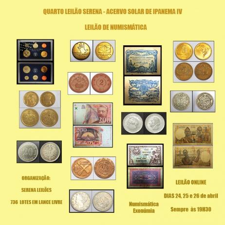 SOLAR DE IPANEMA IV - LEILÃO DE NUMISMÁTICA