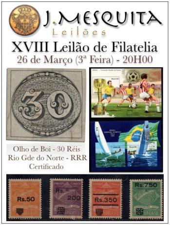 XVIII Leilão de Filatelia