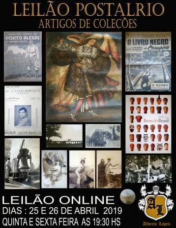 LEILÃO POSTAL RIO - ARTIGOS DE COLEÇÕES