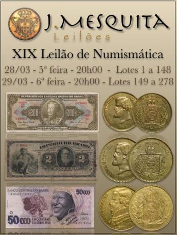 XIX Leilão Especial de Numismática